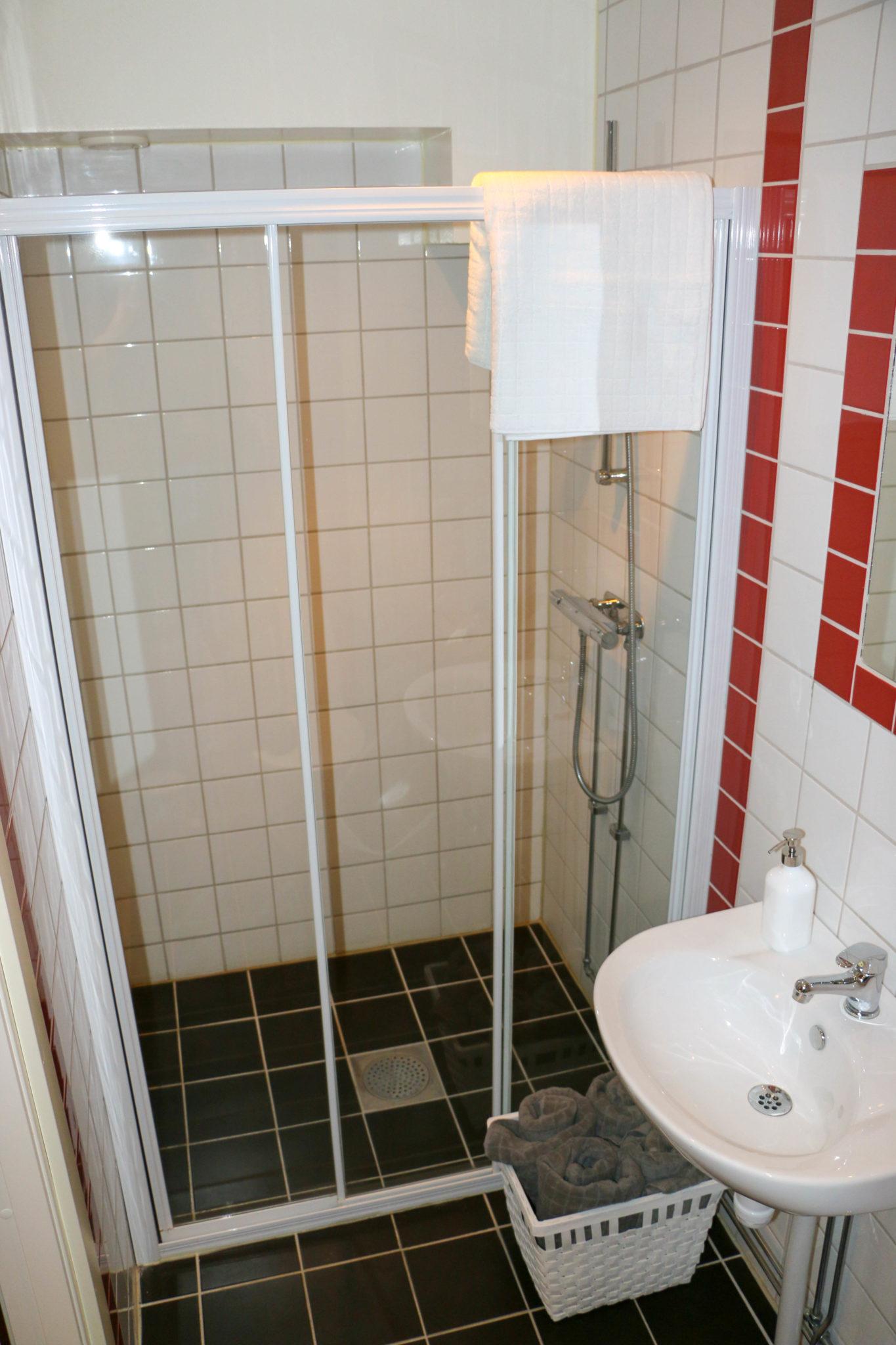 Hotell Hedåsen Twinrum - badrum, dusch, toa